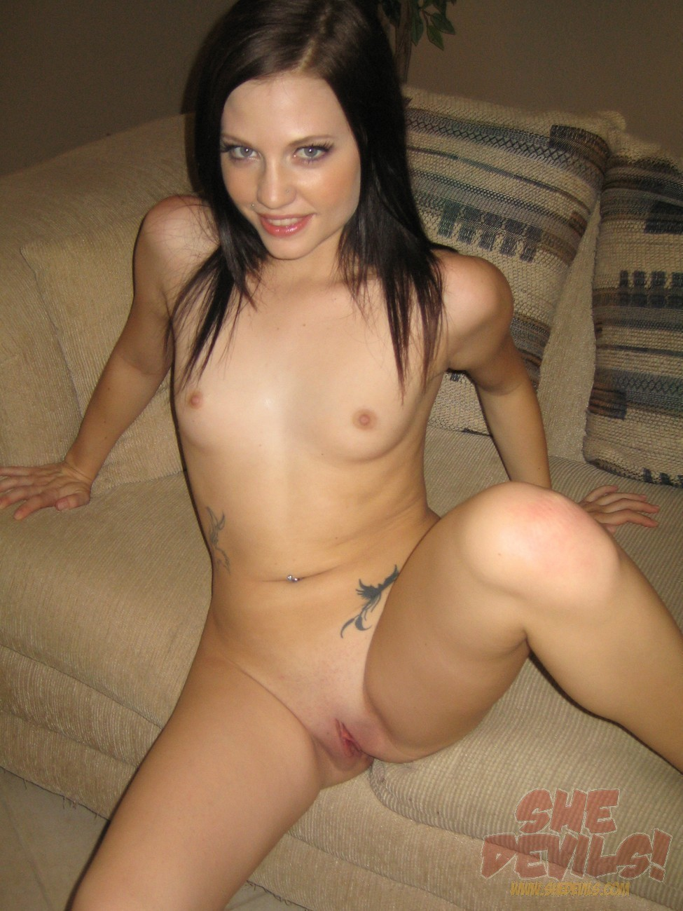 A naked girl with juicy pussy
