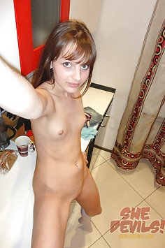 Skinny and frisky nude