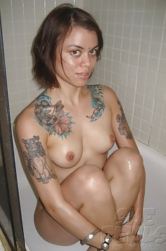Tattooed and tough nude