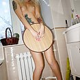 Skinny blonde emo girl Ameliya shows off cute tattoos and ass - image control.gallery.php